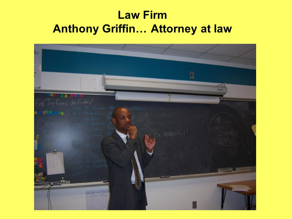 Law Firm Anthony Griffin… Attorney at law