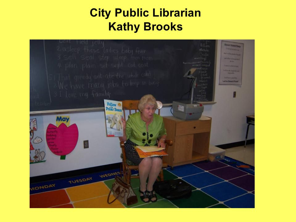 City Public Librarian Kathy Brooks