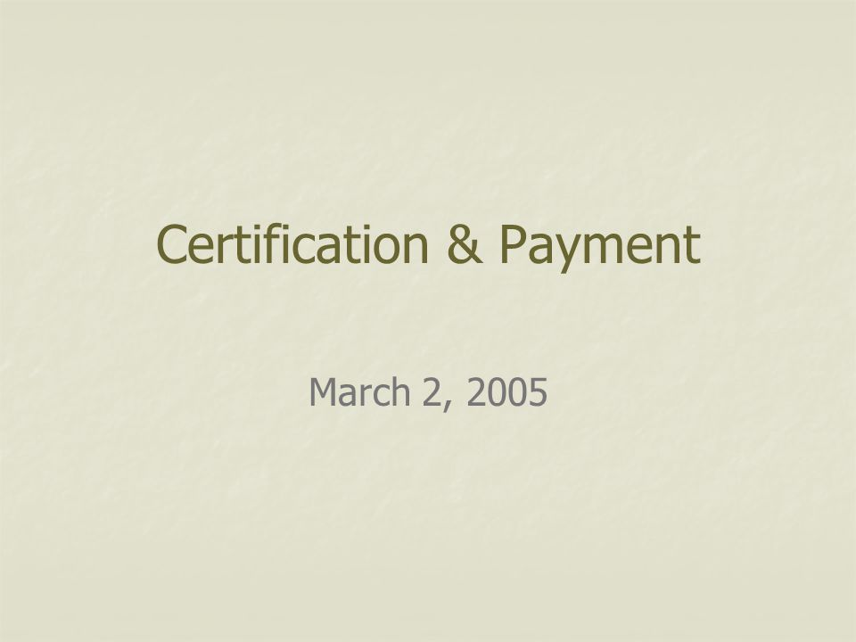 Outline Rules of Payment Certification and Payment by Program Documentation Cost Analysis Spreadsheet