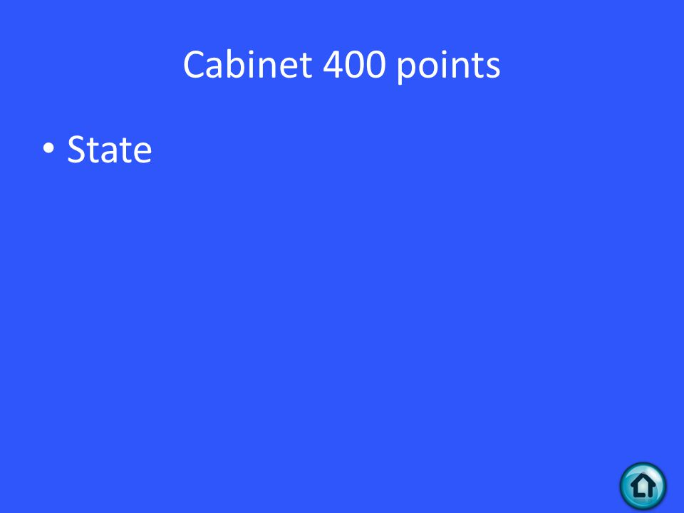 Cabinet 400 points State