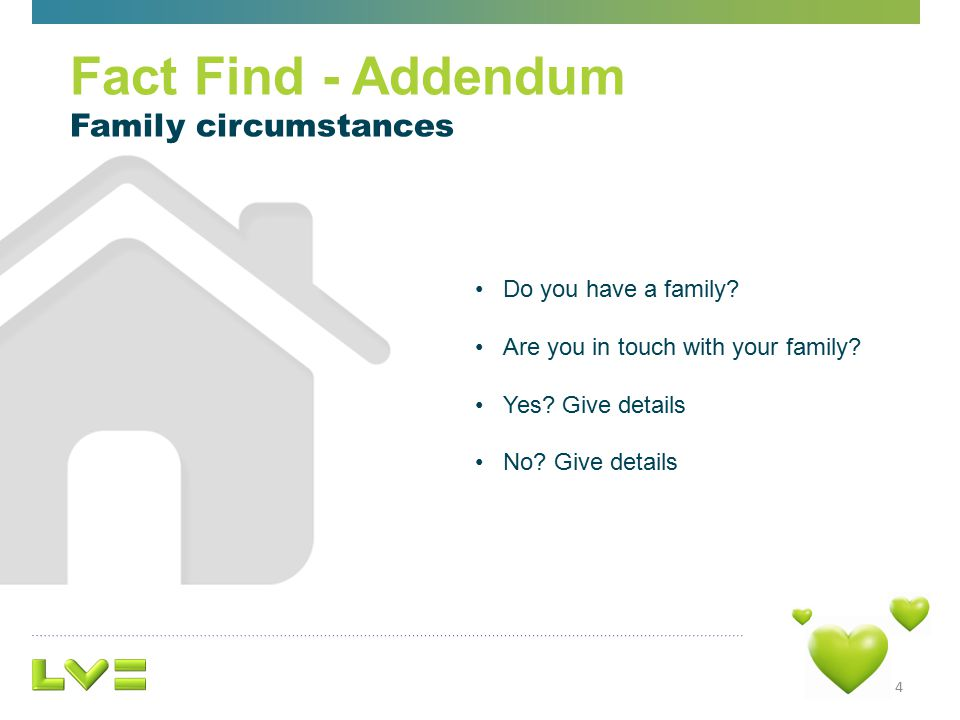 4 Do you have a family. Are you in touch with your family.