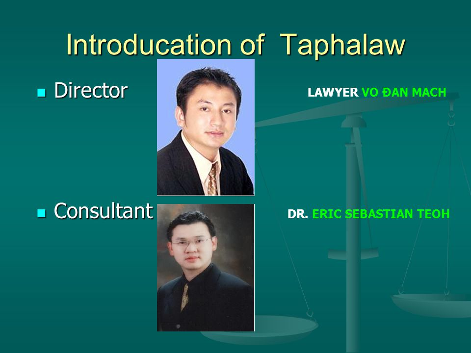 Our pleasure to introduce Taphalaw's services  PROCEDURE IN COURT –LEGAL CONSULTANCY.