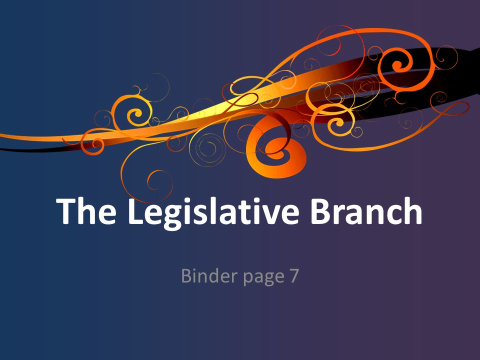 The Legislative Branch Binder page 7