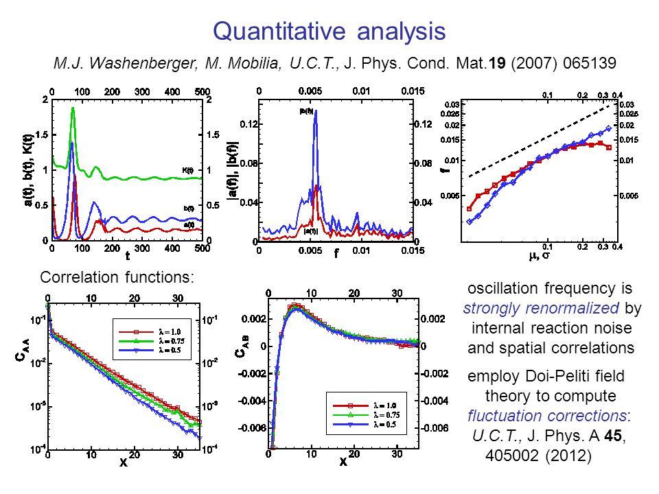 Quantitative analysis M.J. Washenberger, M. Mobilia, U.C.T., J.