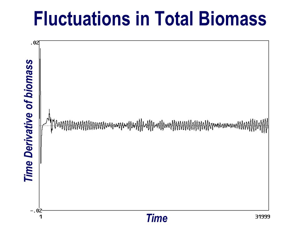 Fluctuations in Total Biomass Time Derivative of biomass Time