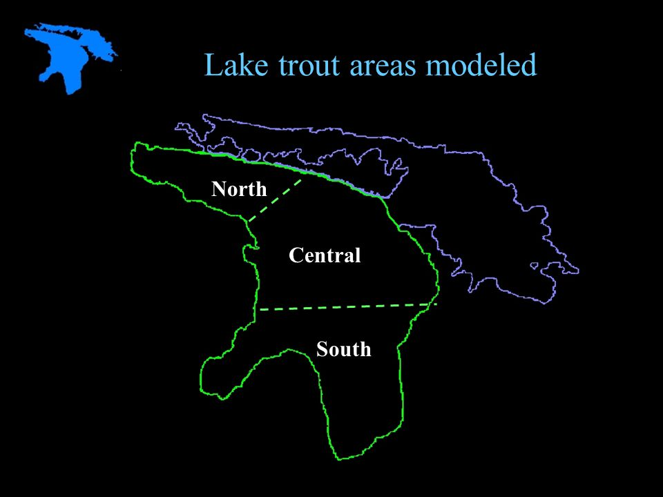 Lake trout areas modeled North Central South