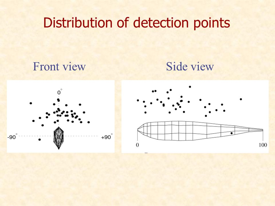 Distribution of detection points Front viewSide view