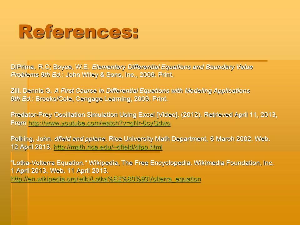 References: DiPrima, R.C; Boyce, W.E.