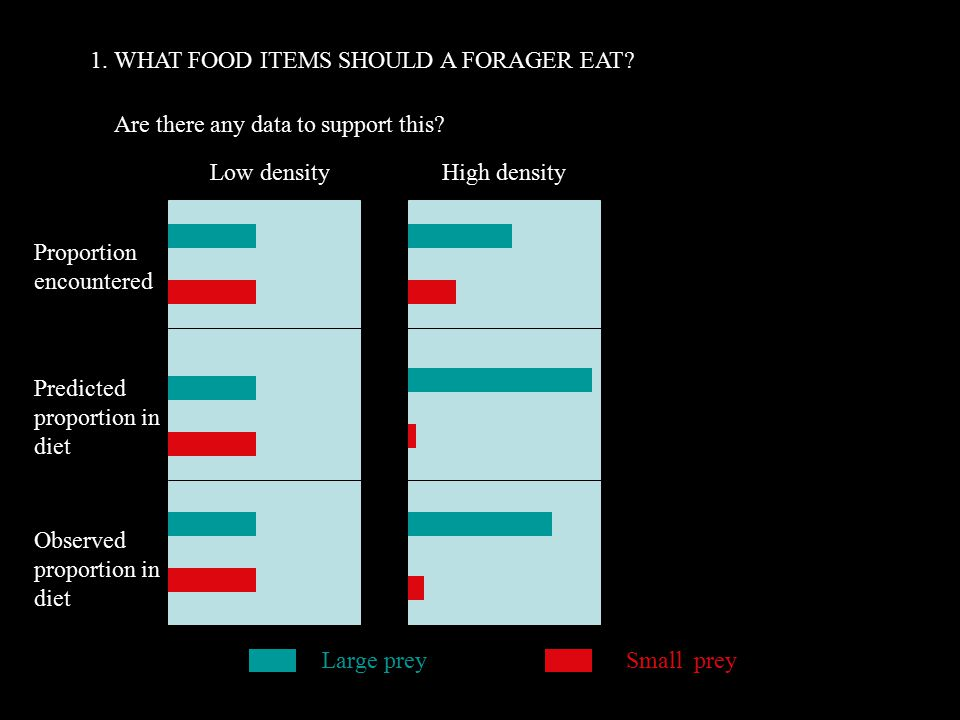 1. WHAT FOOD ITEMS SHOULD A FORAGER EAT. Are there any data to support this.