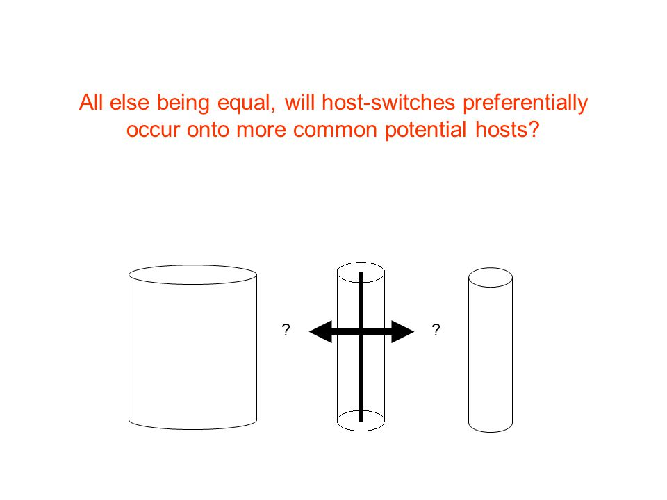 All else being equal, will host-switches preferentially occur onto more common potential hosts