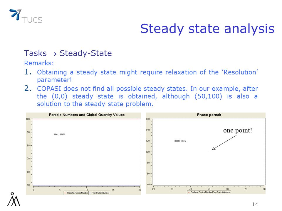 14 one point. Steady state analysis Tasks  Steady-State Remarks: 1.