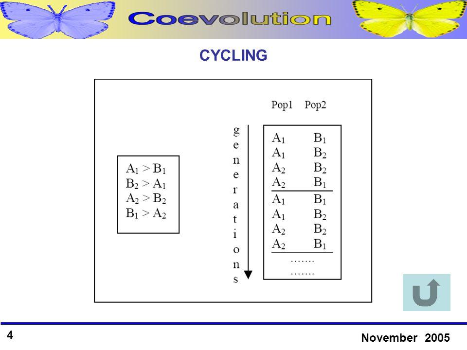 4 November 2005 CYCLING