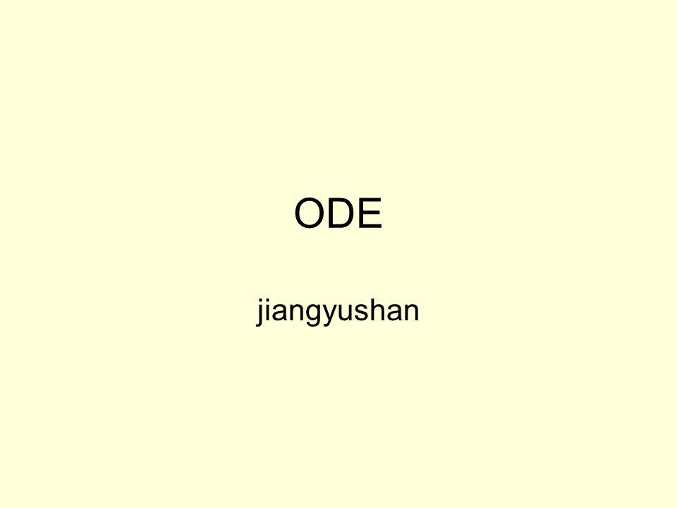 ODE jiangyushan
