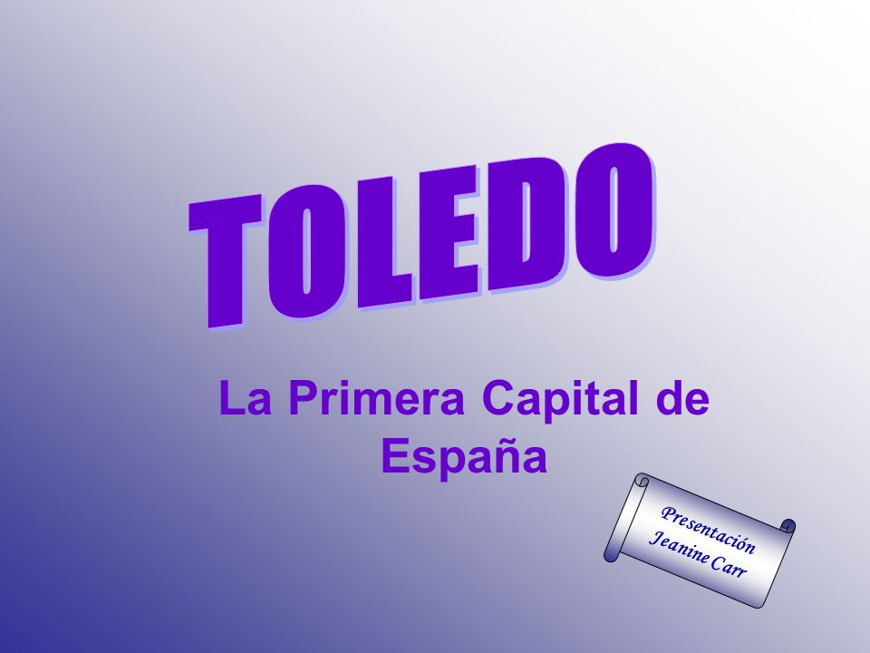 La Primera Capital de España Presentación Jeanine Carr