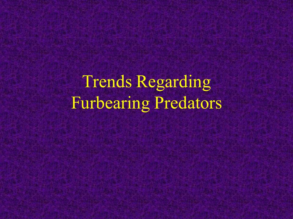 Protocol for Predator Control What are the management goals and thus management objectives for the prey (game animal).