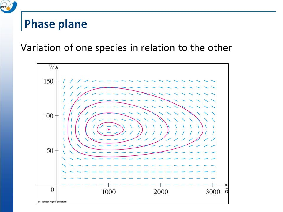 Phase plane Variation of one species in relation to the other