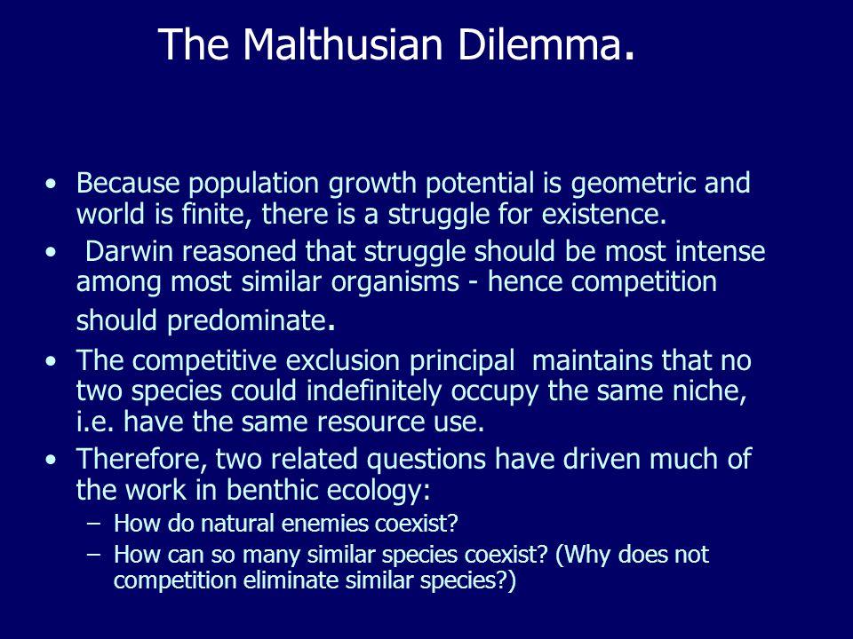 The Malthusian Dilemma.