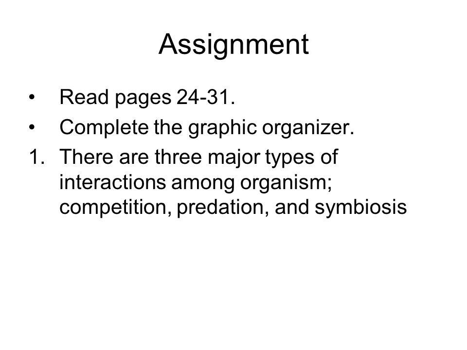 Summarization Activity Give 1 example of a predator/ prey relationship.