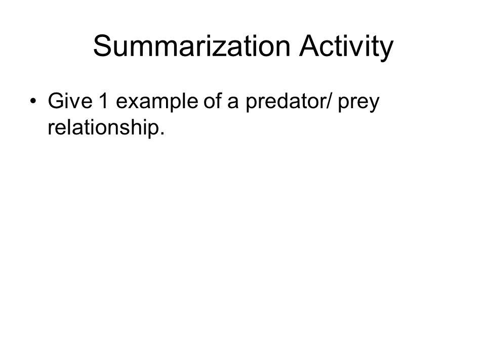 Do Now List 5 different animals. Get with a partner. Match predator/ prey relationships.