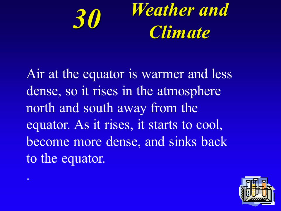 30 Explain how convection circulates warm air and cold air in the atmosphere. Weather and Climate