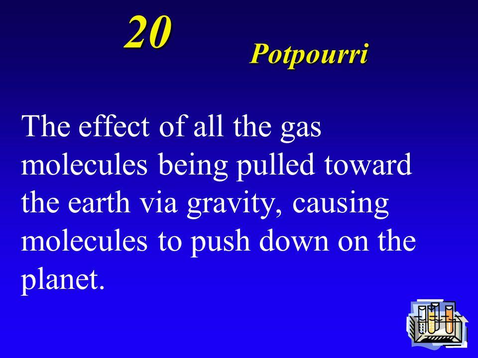 20 Potpourri What is air pressure?
