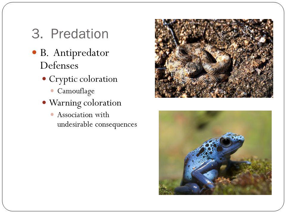 3.Predation B.