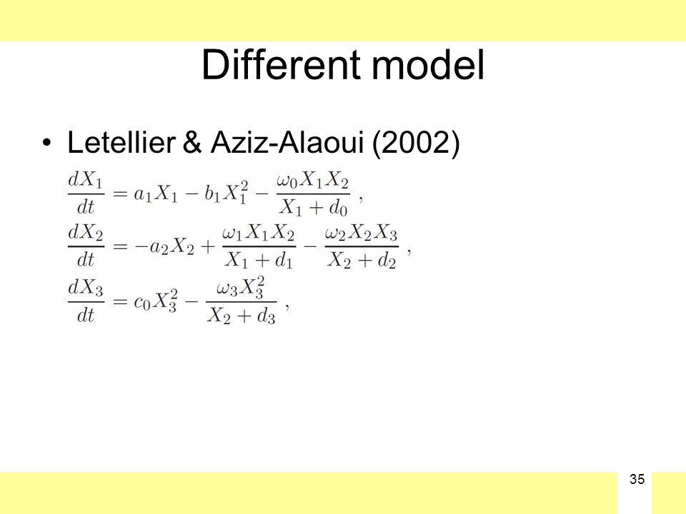 35 Different model Letellier & Aziz-Alaoui (2002)