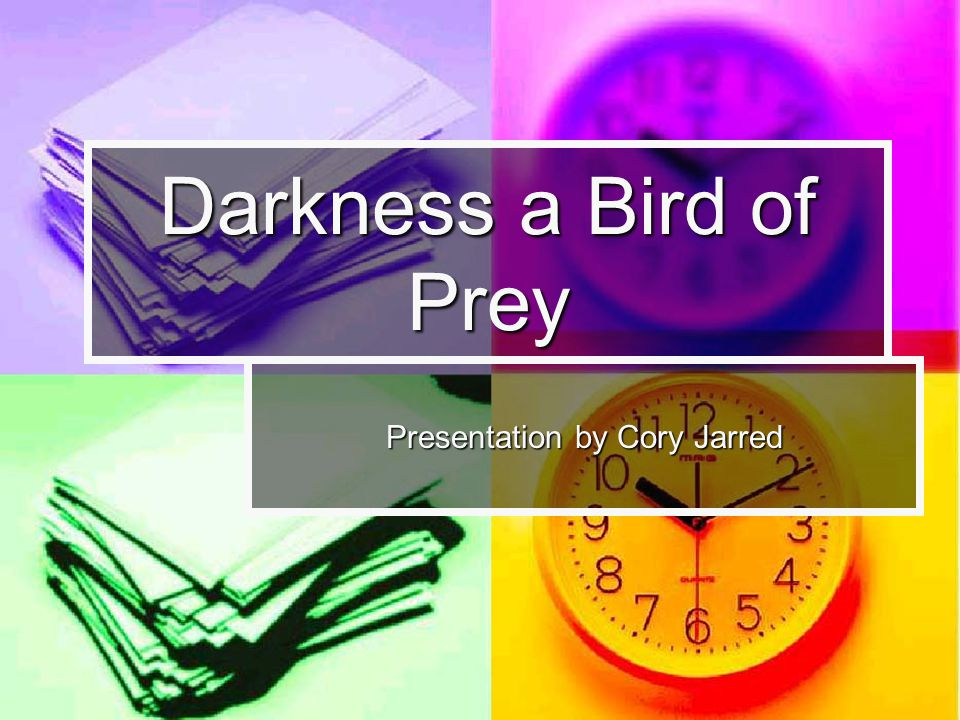 Darkness a Bird of Prey Presentation by Cory Jarred