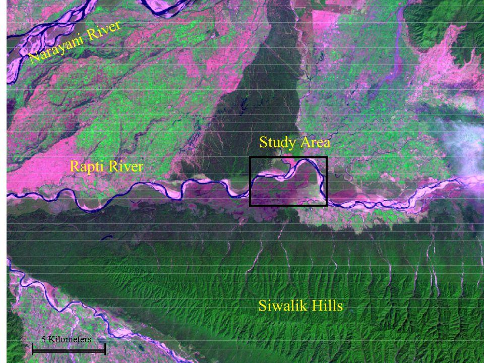 Study Area 5 Kilometers Rapti River Narayani River Siwalik Hills