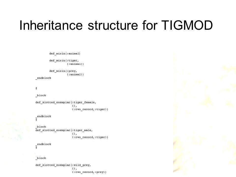 Inheritance structure for TIGMOD