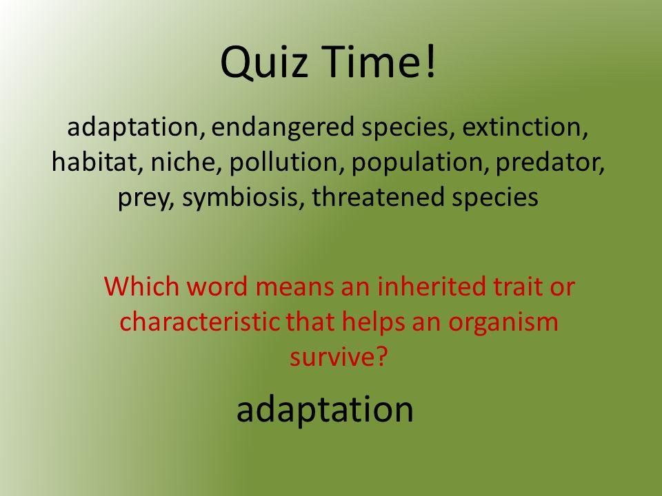 Quiz Time.