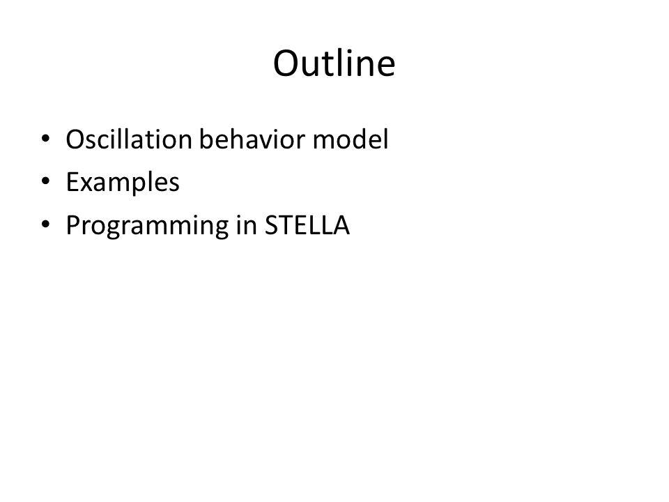 Outline Oscillation behavior model Examples Programming in STELLA