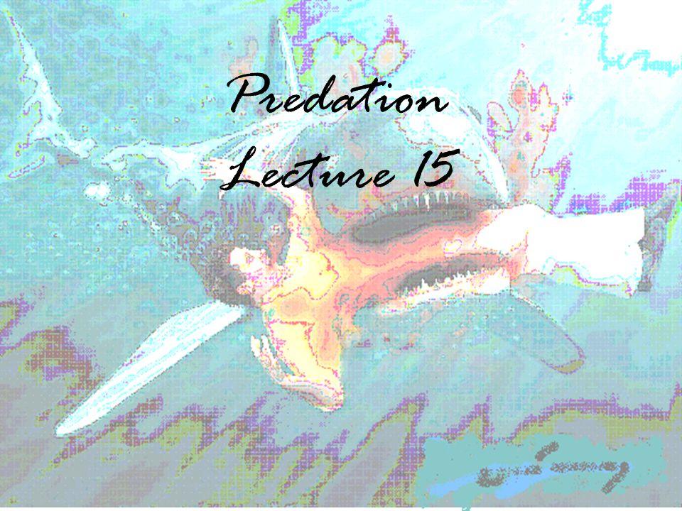 Predation Lecture 15