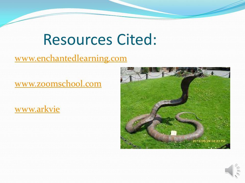 Resources Cited: www.enchantedlearning.com www.zoomschool.com www.arkvie
