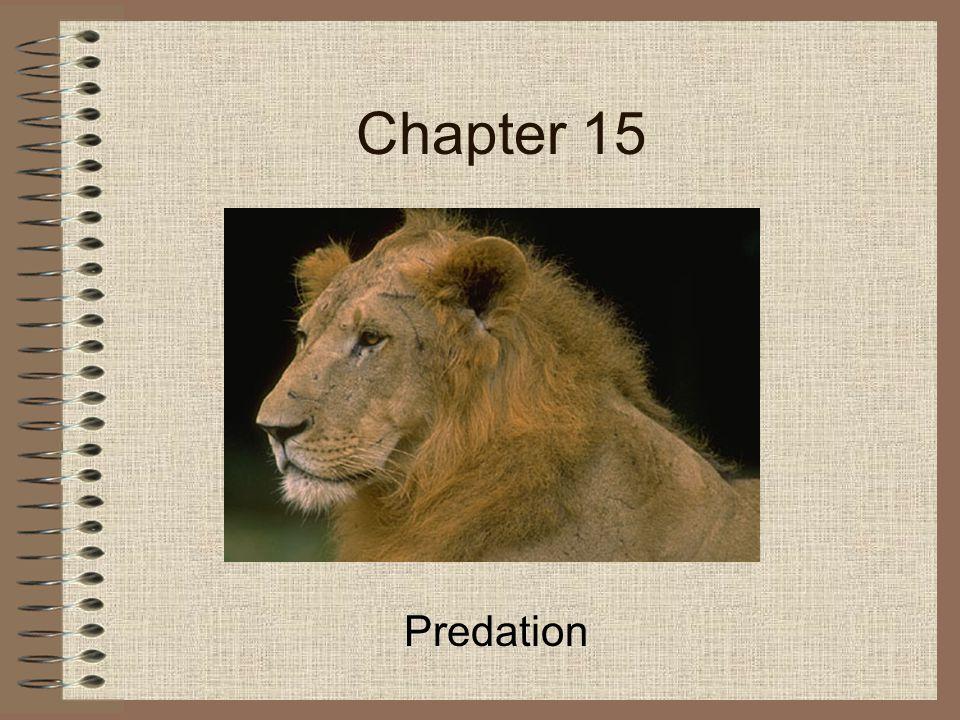 Chapter 15 Predation