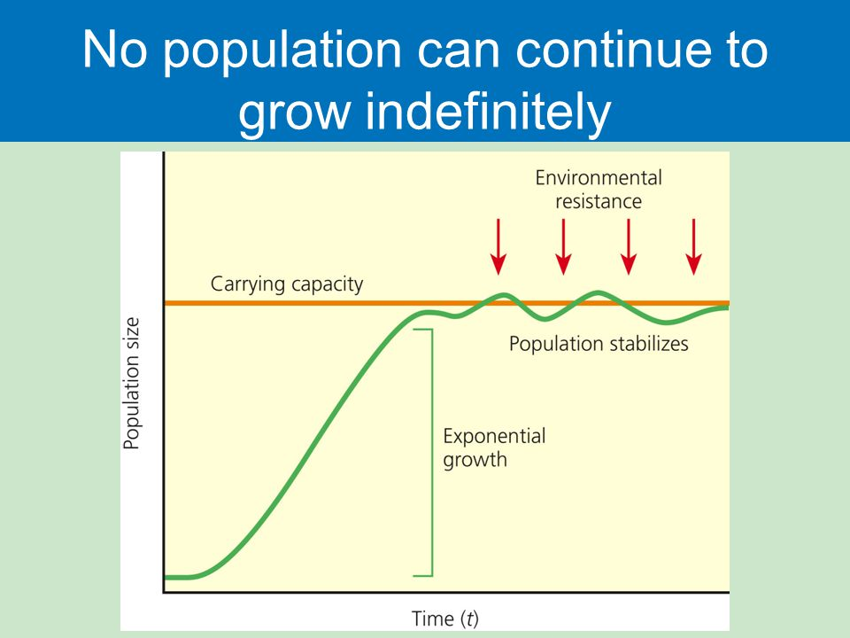 No population can continue to grow indefinitely
