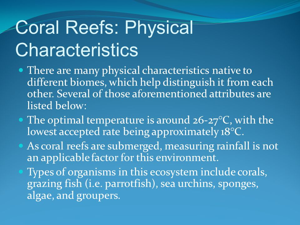 Coral Reefs: Ecosystem
