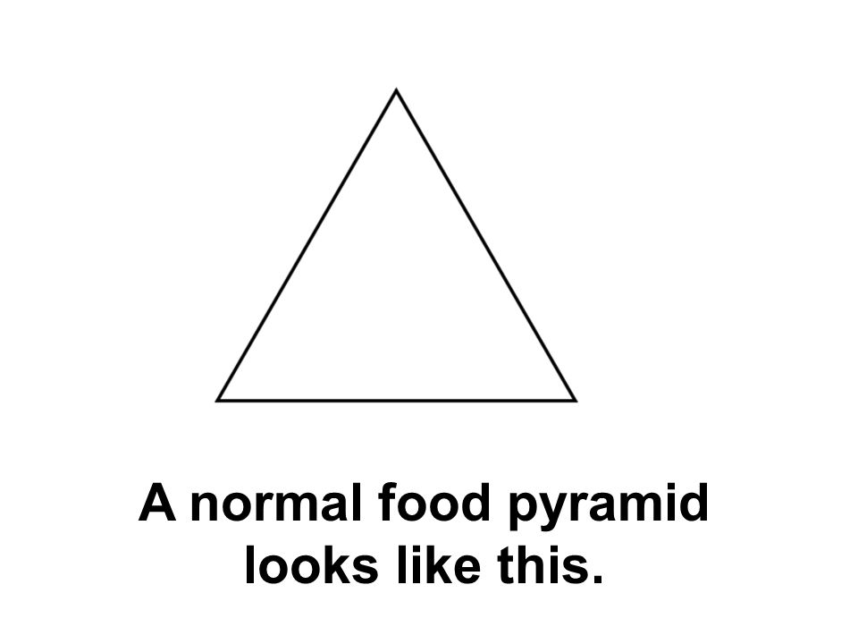 A normal food pyramid looks like this.