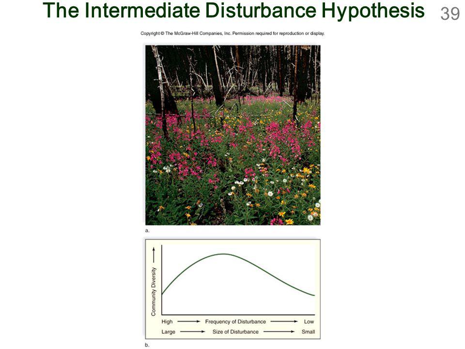 39 The Intermediate Disturbance Hypothesis