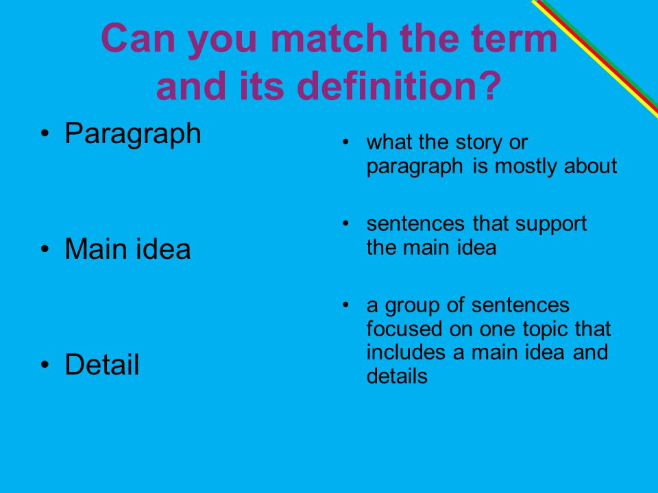 Can you match the term and its definition.
