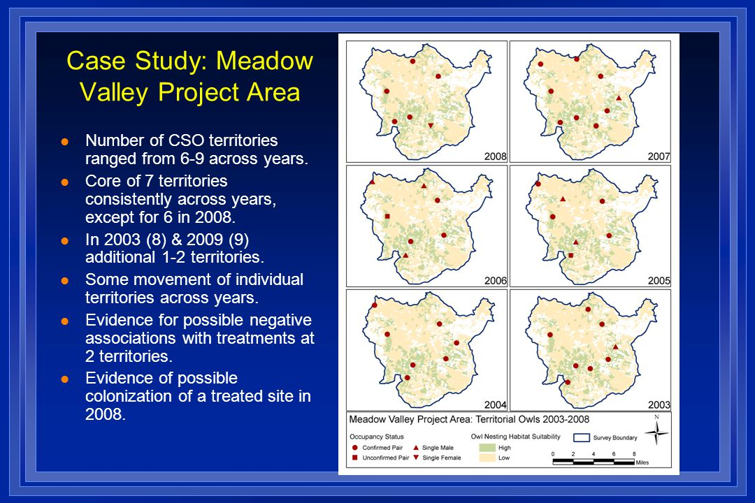 Case Study: Meadow Valley Project Area l Number of CSO territories ranged from 6-9 across years.