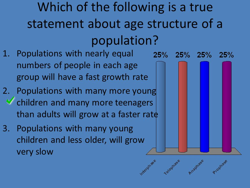 Which of the following is a true statement about age structure of a population.