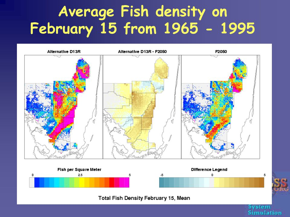 Average Fish density on February 15 from 1965 - 1995