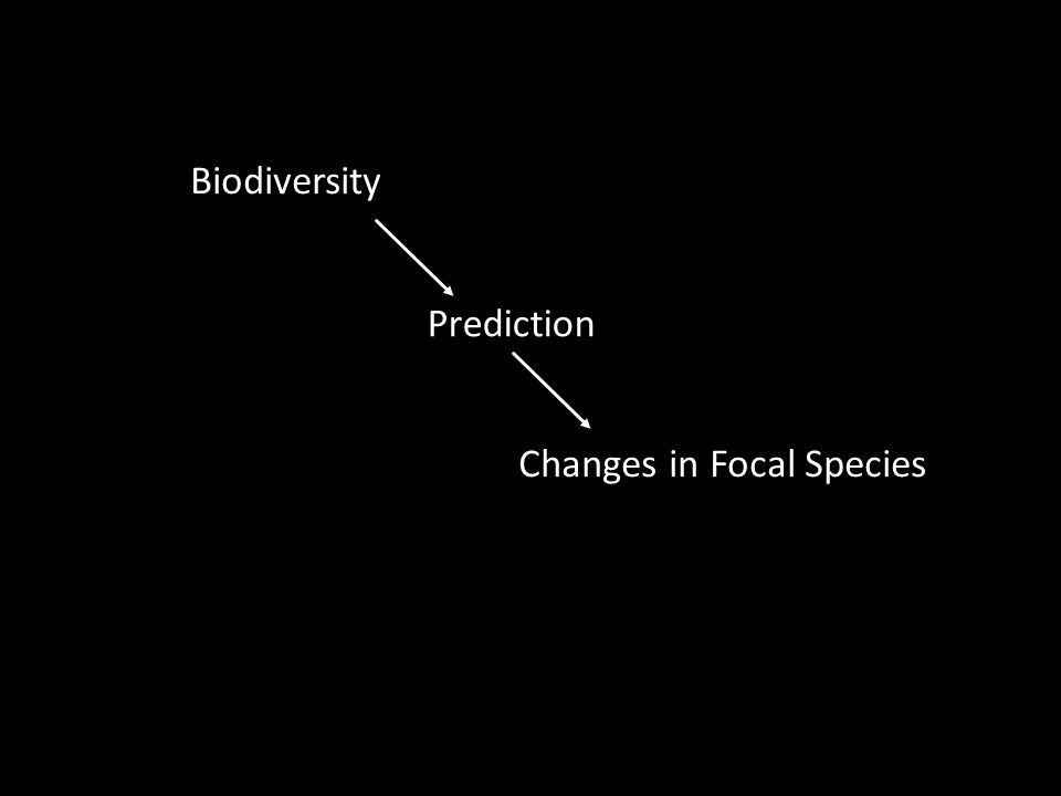 Prediction Biodiversity Changes in Focal Species