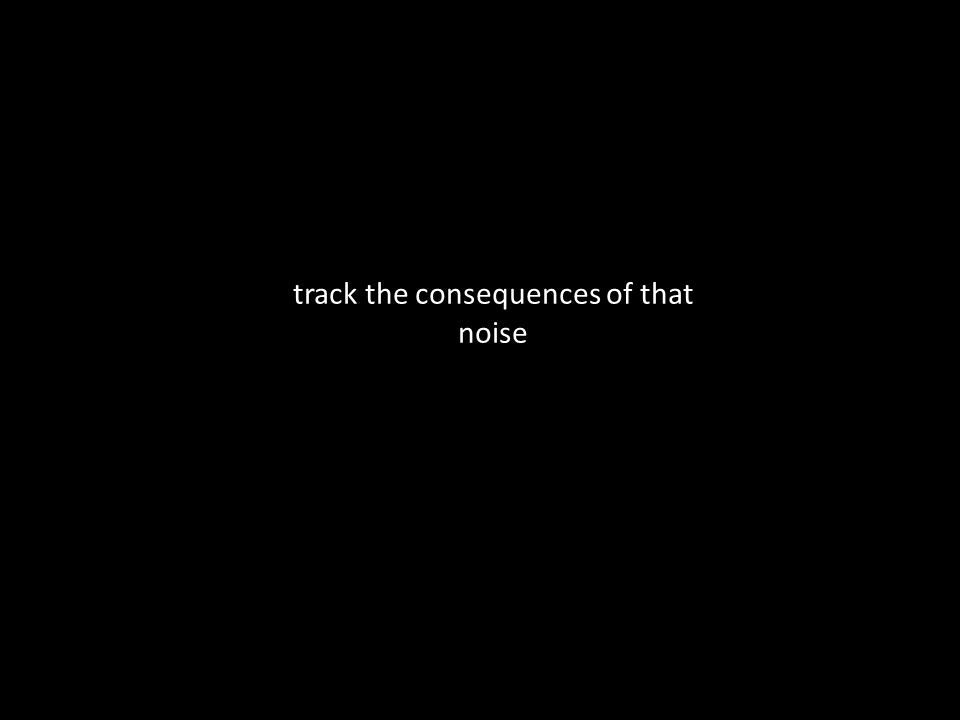 track the consequences of that noise