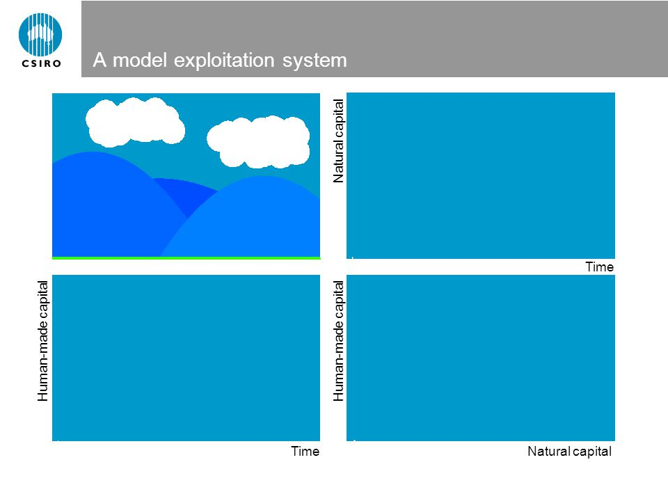 A model exploitation system Natural capital Human-made capital Time Natural capital Human-made capital