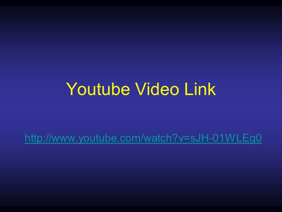 Youtube Video Link http://www.youtube.com/watch v=sJH-01WLEg0