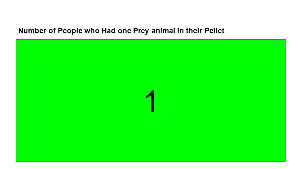 Number of People who Had one Prey animal in their Pellet 1