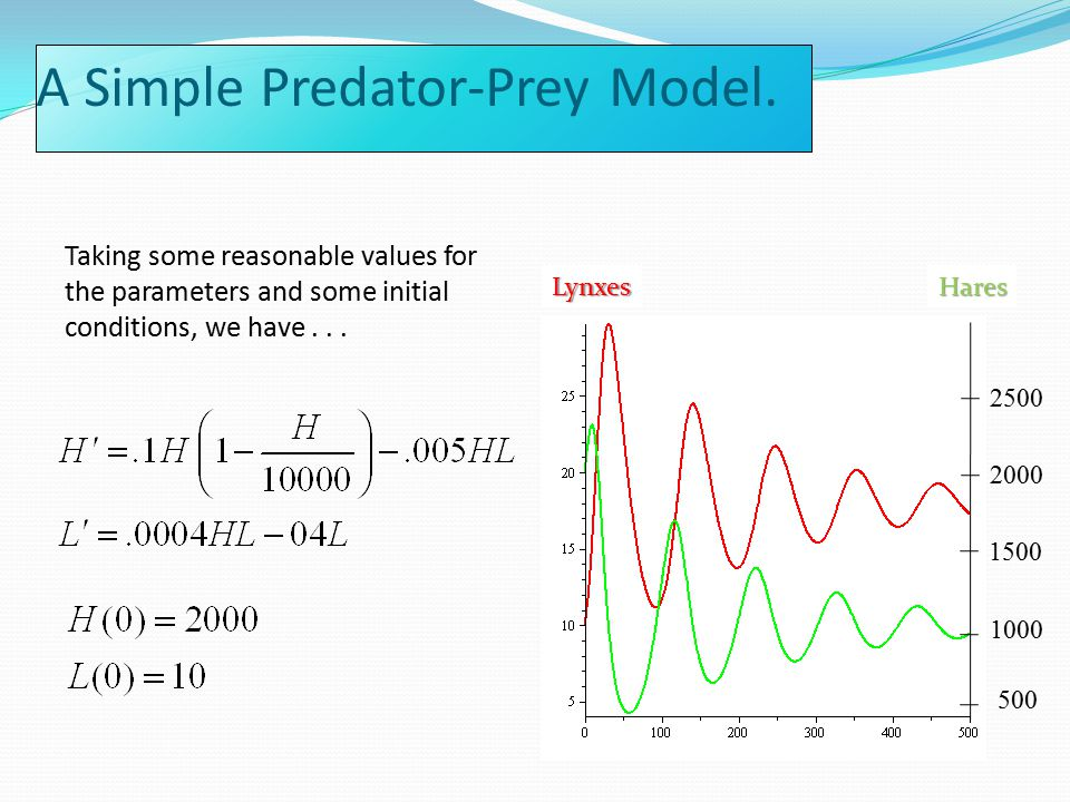 A Simple Predator-Prey Model.