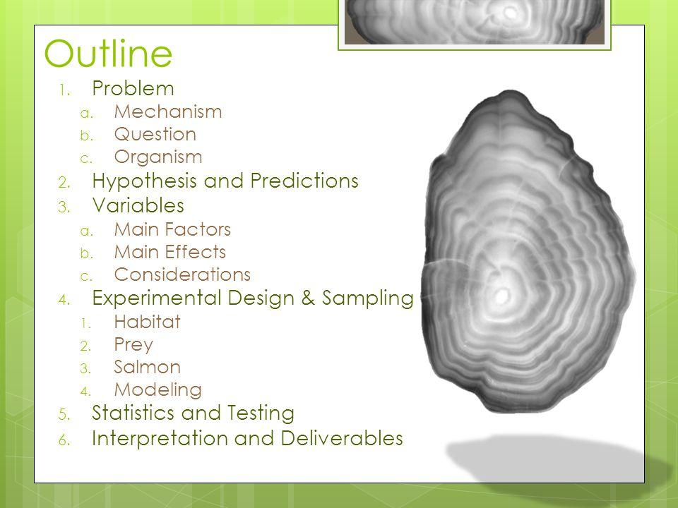 Outline 1. Problem a. Mechanism b. Question c. Organism 2.